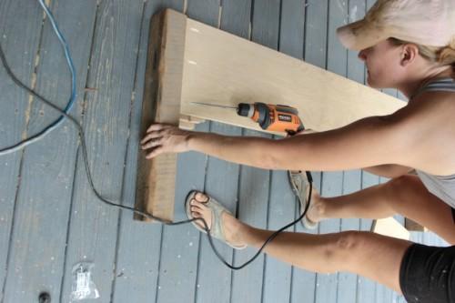 diy wood frame bed headboard assembly