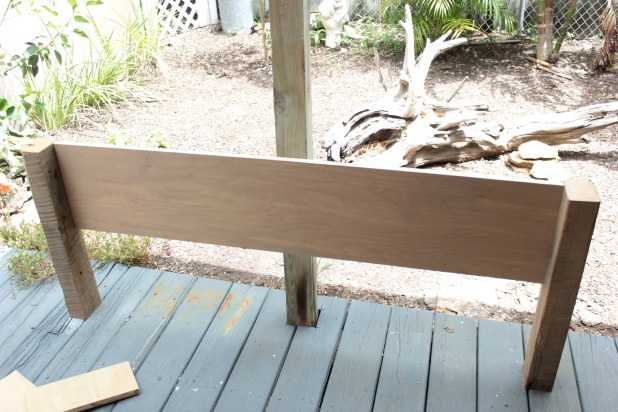New diy wood frame bed headboard assembly