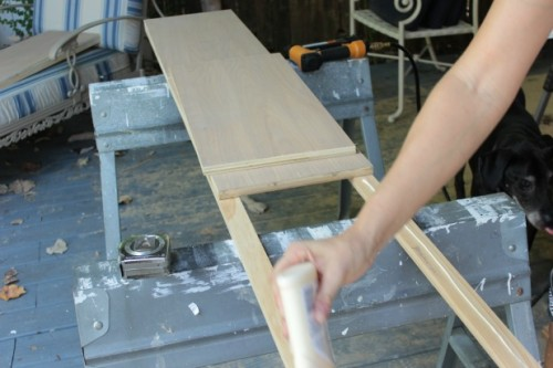 diy wood frame bed siderail assembly