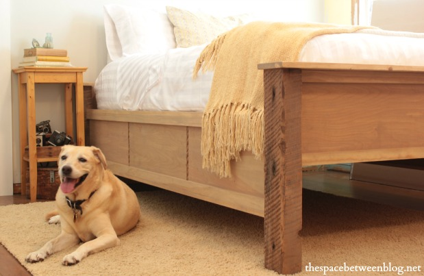 Fancy diy wood frame bed