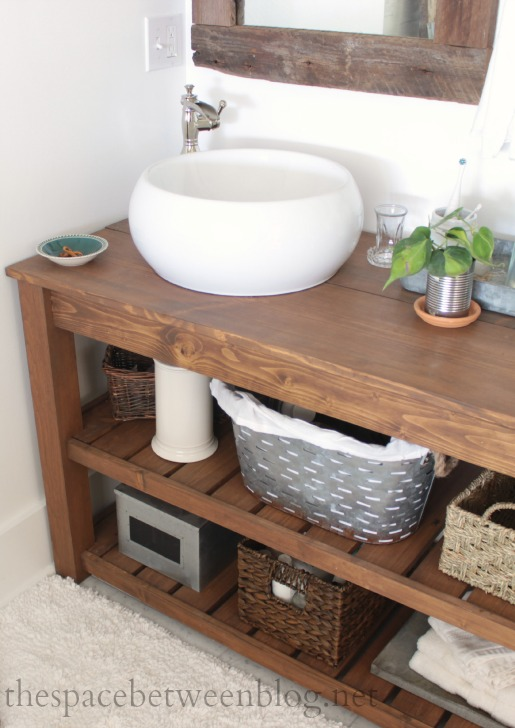 make a spa like diy wood vanity