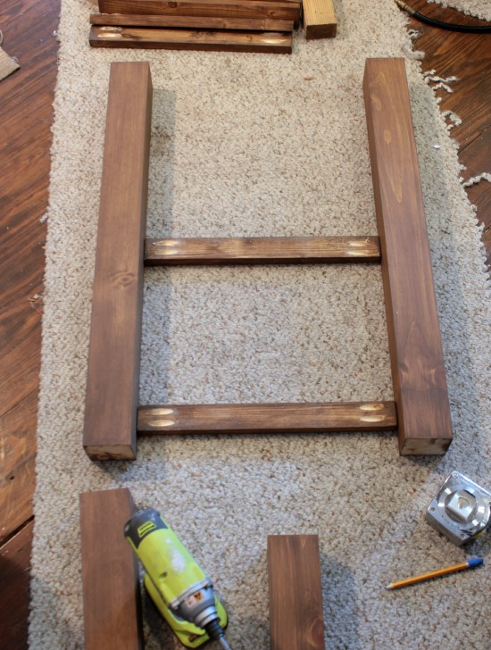 use a Kreg Jig to make quick pocket holes for a sturdy assembly for your wood furniture pieces