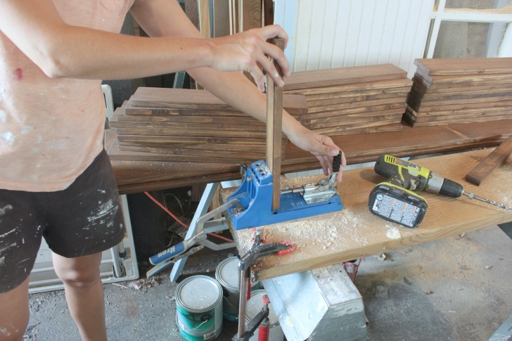 how to make a diy wood vanity with a kreg jig