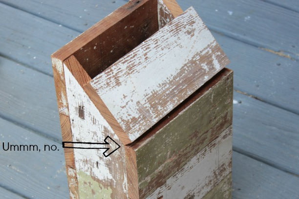 diy wooden mailbox top