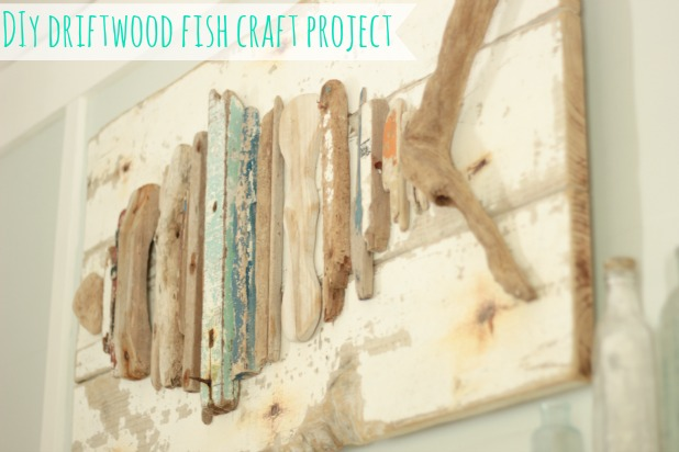 Easy craft idea driftwood fish for Driftwood art projects