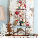 driftwood and ornament christmas tree craft