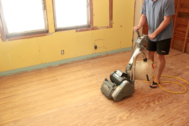 Hardwood floor sanding and staining tips for Sanding hardwood floors