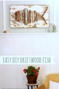 easy diy driftwood fish