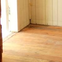 new hardwood floor in the vestibule