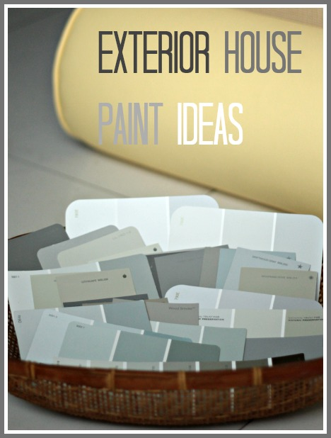 if by blue you mean grey {exterior house paint ideas} - the space ...