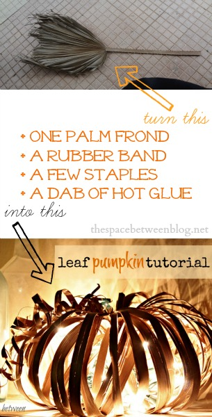 fall craft pumpkin tutorial