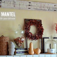 decorating ideas for the fall mantel