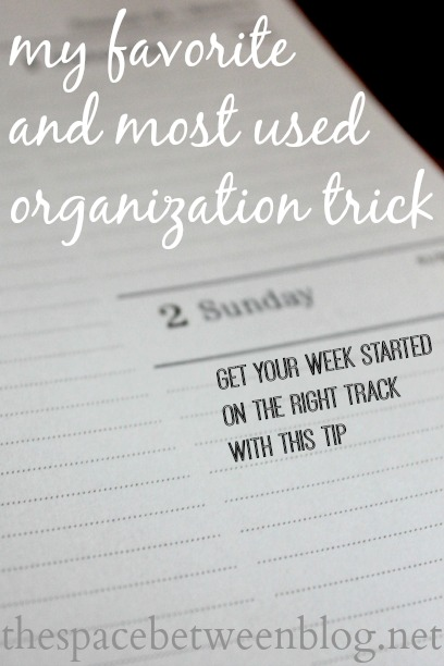 favorite and most used organization trick
