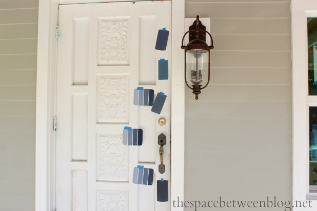 front door colors - martha stewart blue suede