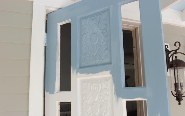 front door colors - martha stewart blue suede