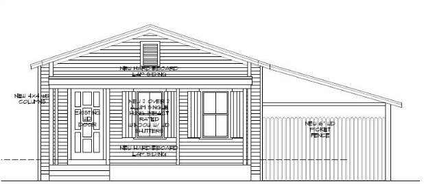 Front Elevation Oblique Drawing : New front elevation drawing