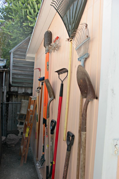 real simple garden tool storage