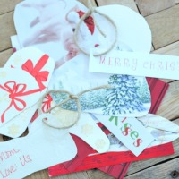 greeting card gift tags