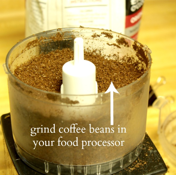 grind coffee beans in your food processor - this weeks tips and tricks