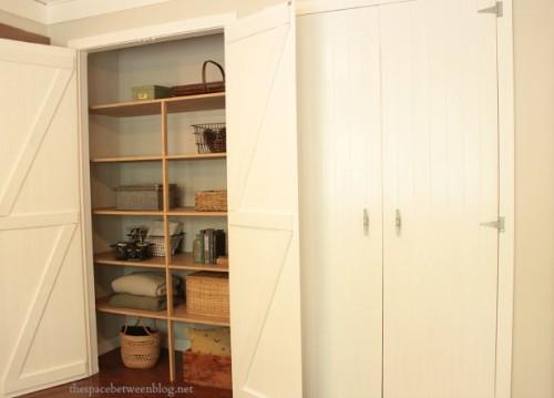 guest bedroom diy wood closet doors