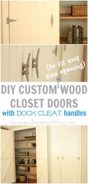 how to make and hang custom wood closet doors that can fit any size opening
