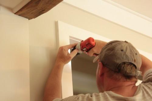 hanging diy wood closet doors