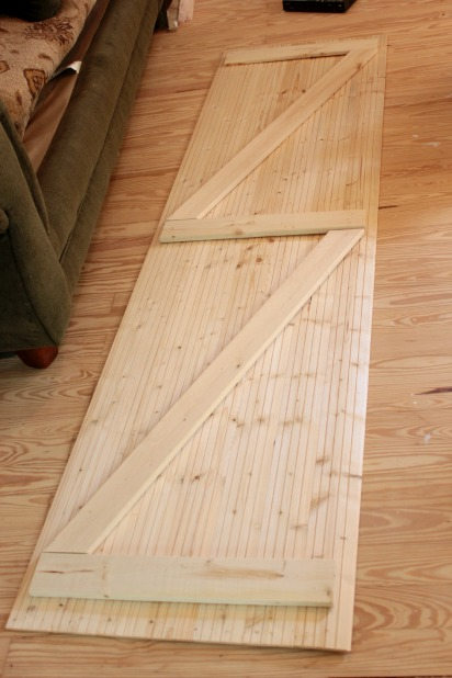 assembling diy wood closet doors