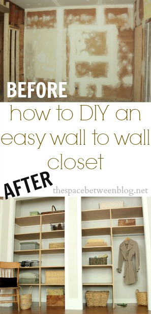 Exceptionnel How To Diy An Easy Wall To Wall Closet