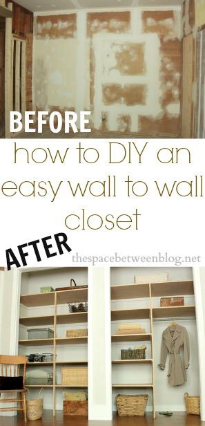 Diy Easy Closet Anizer E Saver Out Of Pallets