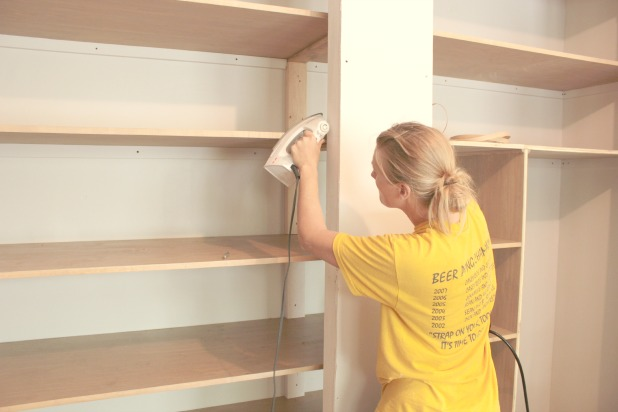 wall to wall closet finishing steps