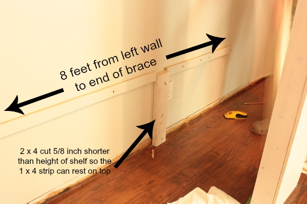 wall to wall closet shelf supports