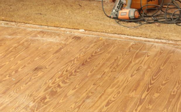 before the hardwood floor restoration