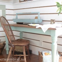 creating a craft corner in the guest bedroom