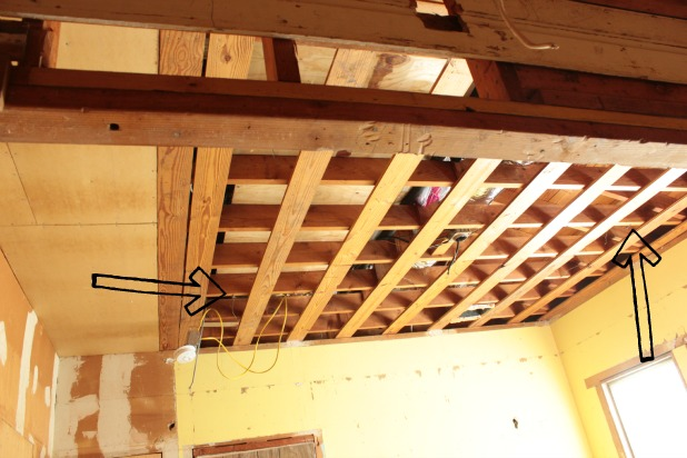 removing drop ceilings in the guest bedroom