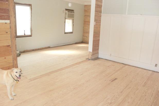 hardwood floor restoration - sanded