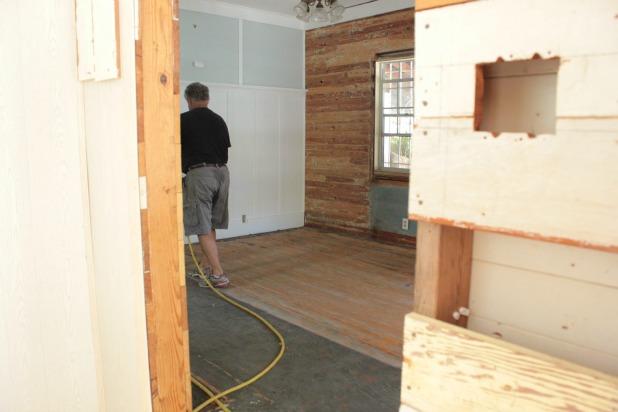 hardwood floor restoration - sanding