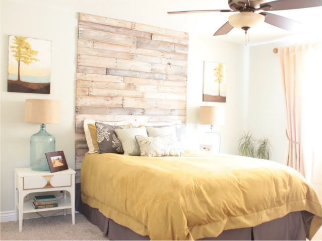 Ucpycling Ideas - floor to ceiling headboard