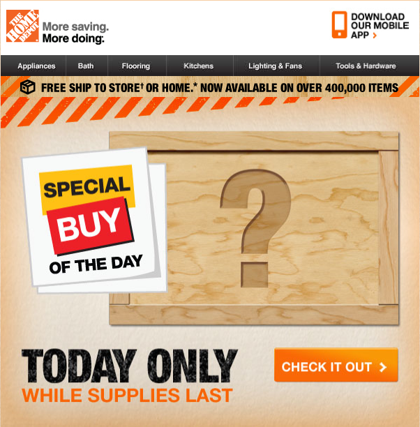 Deal of the day home depot home design 2018 for Deals by depot