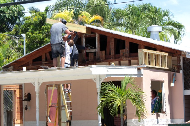 house exterior roof raising