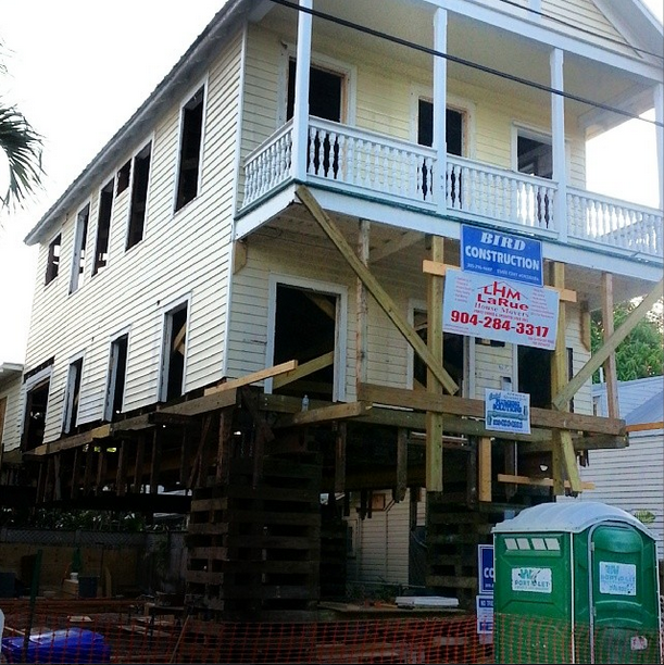 Key West house jacked up