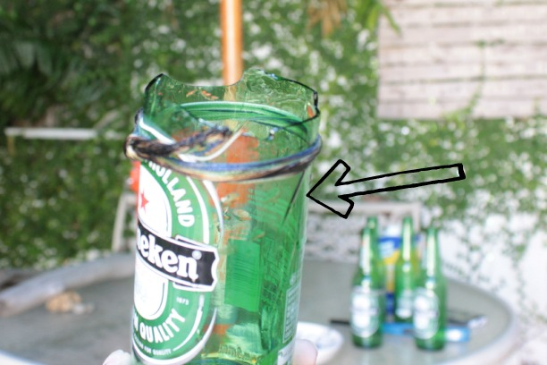 how to cut a bottle with a string
