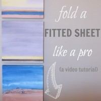 Day #22 – how to fold a fitted sheet like a pro
