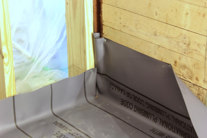 how to install a pvc shower liner