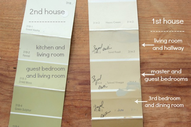 select different shades from the same paint strip