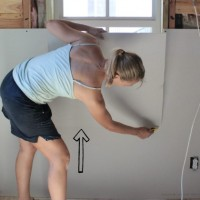 my thoughts on installing drywall when you're working with wonky walls