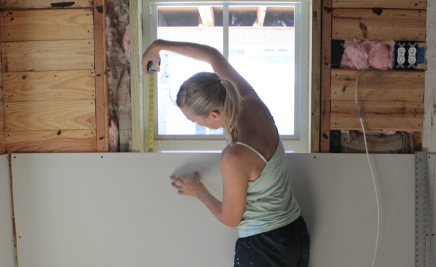 My thoughts on installing drywall when you re working with for Drywall around windows
