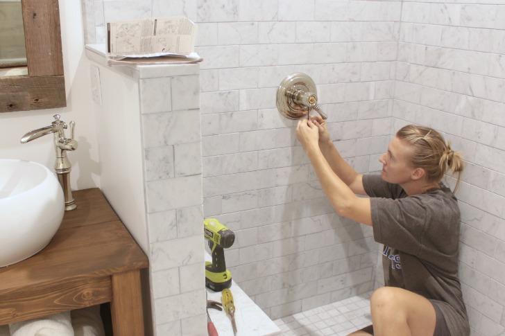 installing a shower valve