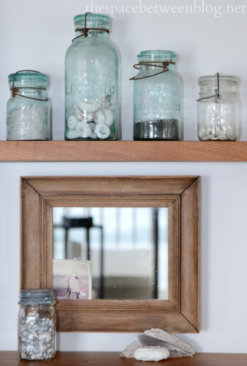sand and shell filled jars