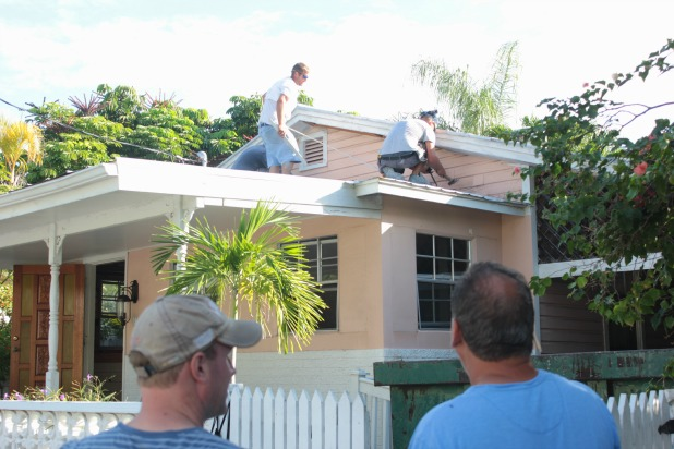 key west house exterior roof demolition