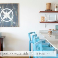 waterside home tour